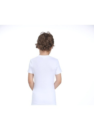 Zeyzey Ribana Bisiklet Yaka T-Shirt Beyaz